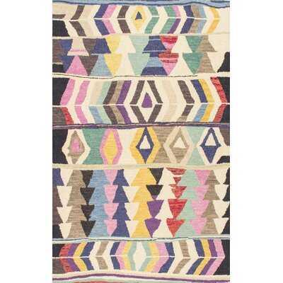 Apollonia Tufted Wool Purple Area Rug - Wayfair