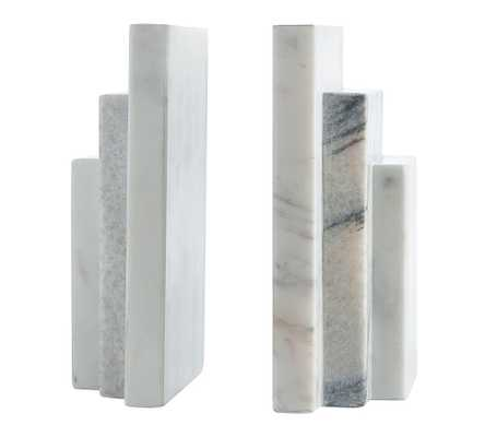 Marble Step Book Ends - Pottery Barn