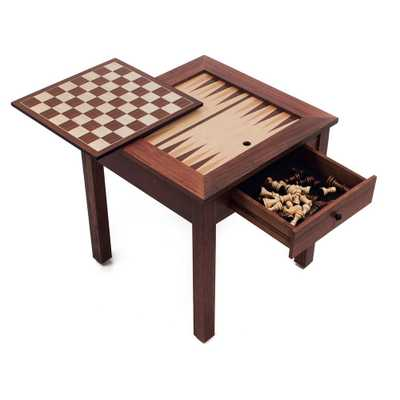 Hey! Play! 3-in-1 Chess and Backgammon Table Set - Home Depot