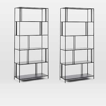 Profile Wide Bookcase, Set of 2 - West Elm