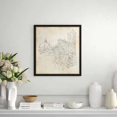 Providence Art 'Venice Sketch 1' Framed Print - Perigold