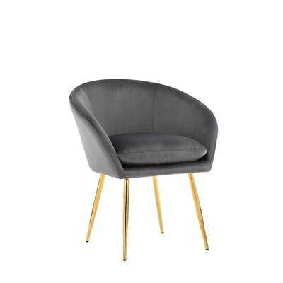 Elzira Velvet Upholstered Arm Chair - Wayfair