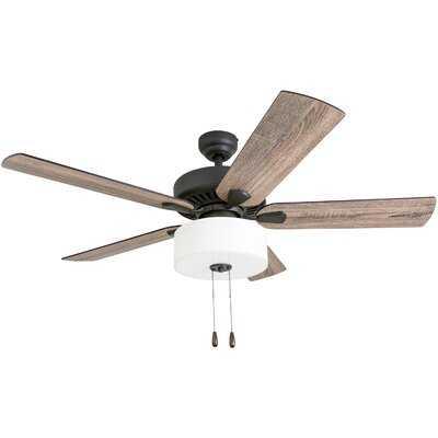 """52"""" Sina 5 Blade Ceiling Fan, Light Kit Included - Birch Lane"""