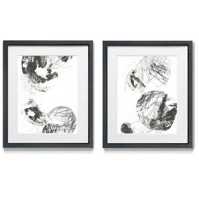 Scribble Stones IV - 2 Piece Picture Frame Print Set - Wayfair