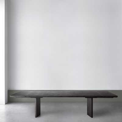 Knife Edge Extendable Dining Table, Rectangular, 96 - 132, Wood, Ebony - Williams Sonoma