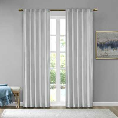 Aurora Poly Velvet Solid Room Darkening Rod Pocket/Tab Top Curtain Panels - AllModern