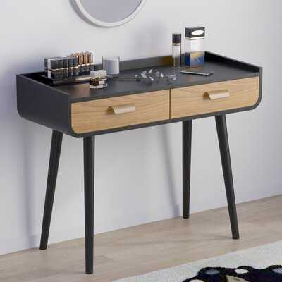 Wooden Dressing Table And Dressing Table With Anti-Fall Edge And 2 Drawer Table - Wayfair