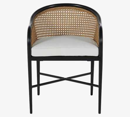 Berengar Dining Armchair Cushion, Sunbrella(R) - Outdoor Linen; Dove - Pottery Barn