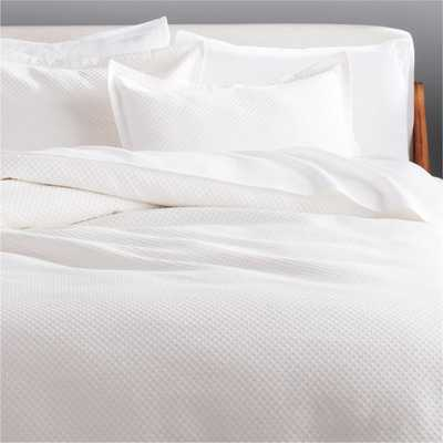Dottie Full/Queen Neutral Matelasse Duvet Cover - CB2