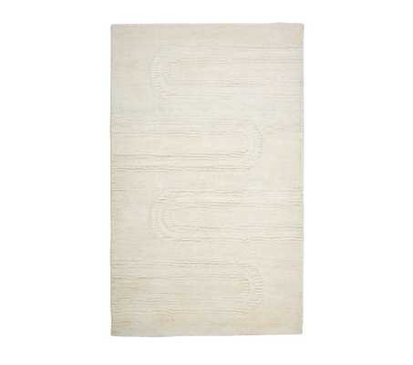 Carved Arches Natural Wool Rug, 7x10 Ft, Natural - Pottery Barn Kids