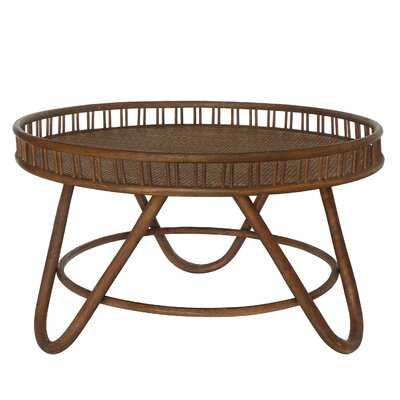 Round Border Rattan Tray Coffee Table - Wayfair