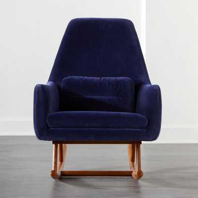 Saic Quantam Navy Rocking Chair - CB2