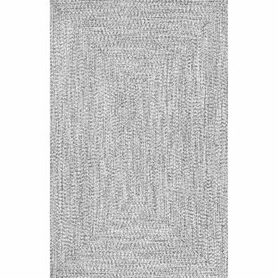 Handmade Braided Polypropylene Gray Area Rug - Wayfair