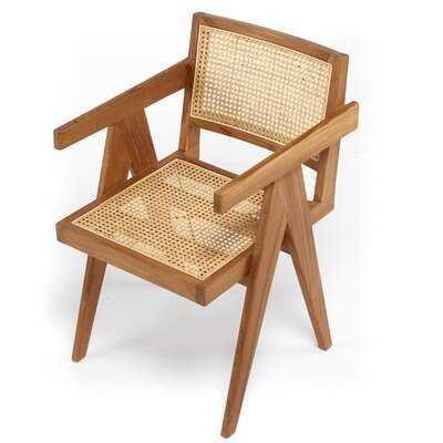 Solid Wood Arm Chair - Wayfair