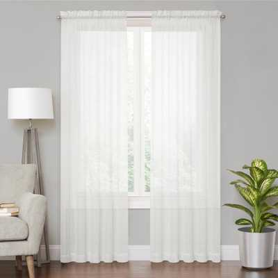 Vue Voile White Sheer Window Curtain - 59 in. x 108 in. L - Home Depot