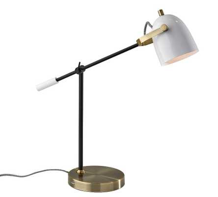 Kenneth Metal Task Table Lamp, Antique Brass - Pottery Barn