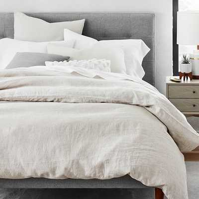 Belgian Flax Linen Duvet and Standard Sham set, Natural Flax, Full/Queen - West Elm