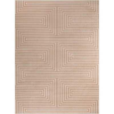 Ludovico Geometric Peach Area Rug - Wayfair