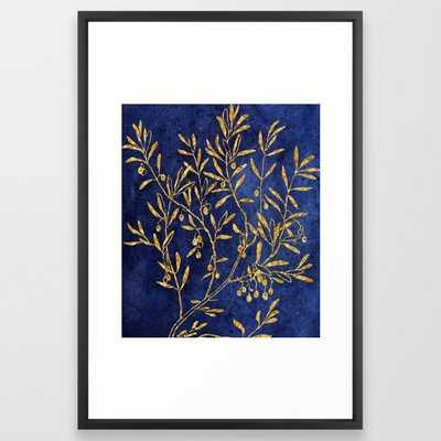 Gold Karigari #society6 #decor #lifestyle #indianart Framed Art Print by 83 Orangesa(r) Art Shop - Vector Black - LARGE (Gallery)-26x38 - Society6