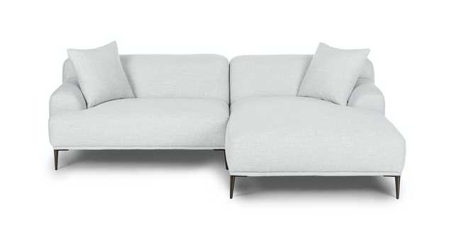 Abisko Mist Gray Right Sectional - Article