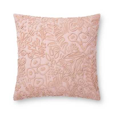 """Rifle Paper Co. x Loloi PILLOWS P6030 ROSE 22"""" x 22"""" Cover Only - Loma Threads"""