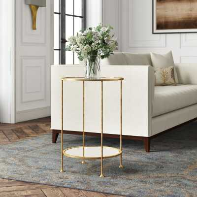 Worlds Away 2 Tier End Table Color: Gold Leaf - Perigold