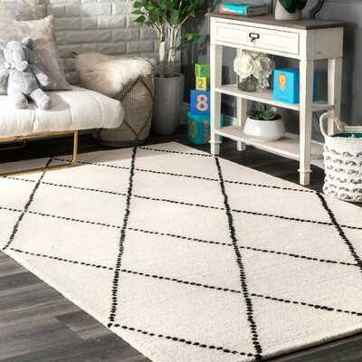 Arruda Geometric Hand-Tufted Wool Ivory/Black Area Rug - Wayfair