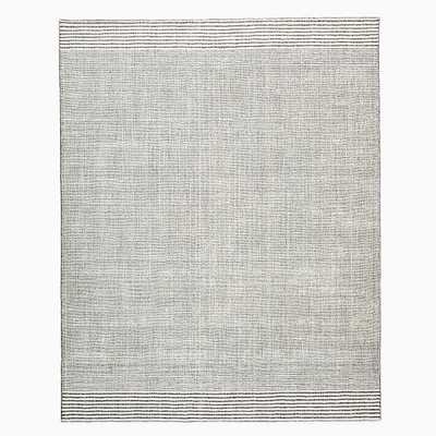 Luxe Stripes Rug, 8'x10', Ivory & Slate - West Elm
