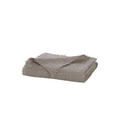 Luke Waffle Weave Linen Throw Blanket - AllModern