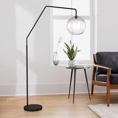 Sculptural Overarching Floor Lamp, Globe Large, Clear, Antique Bronze - West Elm