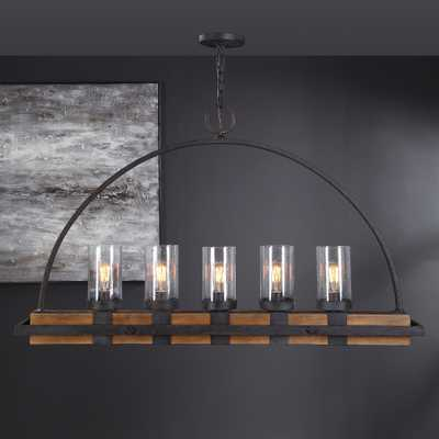 Atwood 5 Light Rustic Linear Chandelier - Hudsonhill Foundry