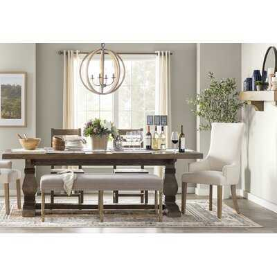 North Reading Pine Solid Wood Trestle Dining Table - Wayfair