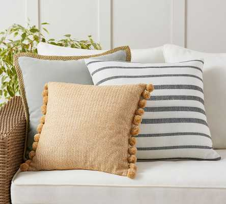 Cozy Contrast Gray Indoor/Outdoor Pillow Set - Pottery Barn