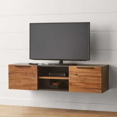 "Rigby Natural 55"" Small Floating Media Console - Crate and Barrel"