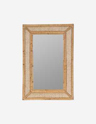 Therese Wall Mirror, Rattan - Lulu and Georgia