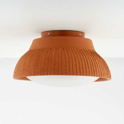 Roja Terracotta Large Flushmount Light - Crate and Barrel