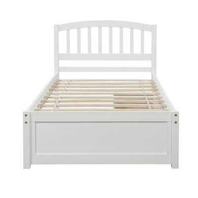 Twin Wood Bed Frame With 2 Drawers - Wayfair