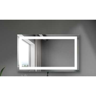 40 X 24 Inch LED Mirror Anti-Fog Wall Mounted Makeup Mirror With Light For Bathroom Bedroom - Wayfair