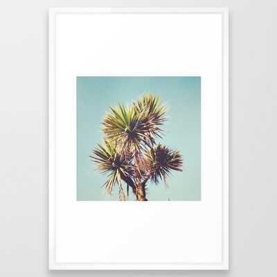Palm Framed Art Print by Cassia Beck - Vector White - LARGE (Gallery)-26x38 - Society6