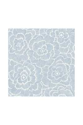 Peony Textured Wallpaper By Anthropologie in Blue - Anthropologie