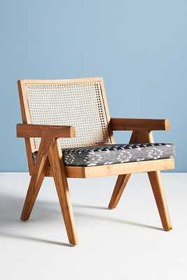 Ashton Caned Teak Accent Chair By Anthropologie in Black - Anthropologie
