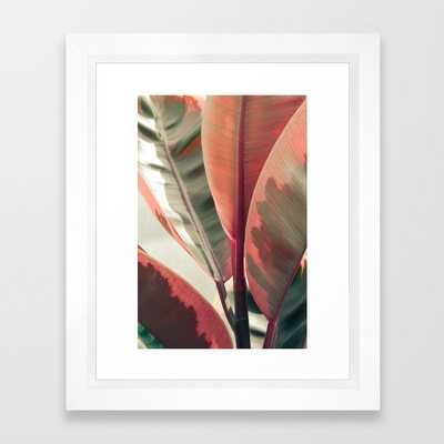 Beautiful Leaves Framed Art Print by Olivia Joy St.claire - Cozy Home Decor, - Vector White - X-Small-10x12 - Society6