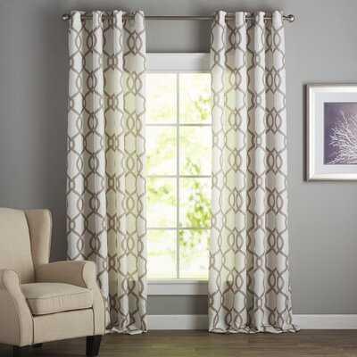 Plant City Geometric Semi-Sheer Grommet Curtains - Birch Lane