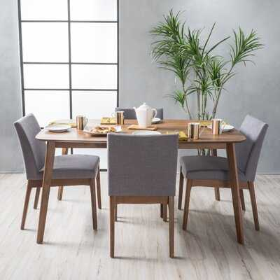 Tunis 5 Piece Dining Set with Straight Table Legs - Wayfair