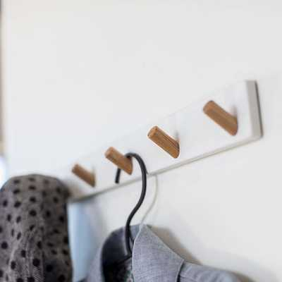 Tosca Wall-Mounted Coat Hanger, White - West Elm
