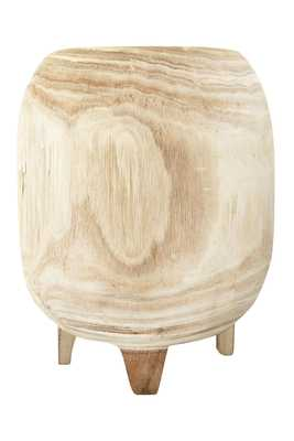 Paulownia Wood Planter, Tall - Haldin