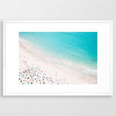 Beach Loving Framed Art Print by Ingrid Beddoes Photography - Vector White - LARGE (Gallery)-26x38 - Society6