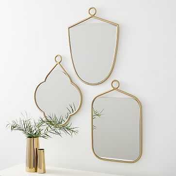 Metal Loop Mirrors, Set of 3 - West Elm