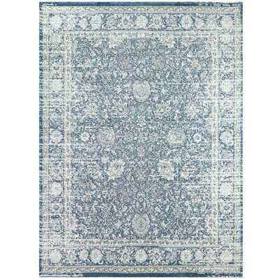 Santillanes Oriental Blue/Gray Area Rug - Wayfair