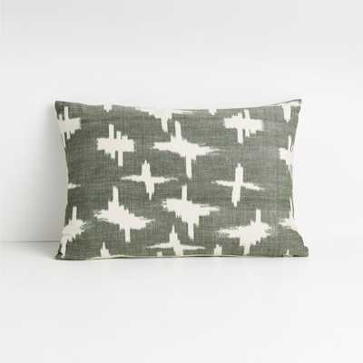 """Sirocco 22""""x15"""" Rifle Green Pillow with Down-Alternative Insert - Crate and Barrel"""